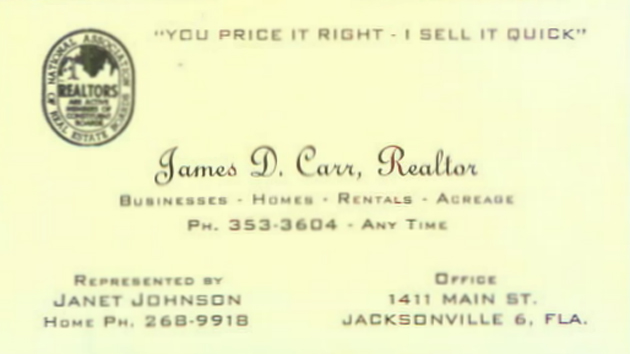 Business card for James D. Carr