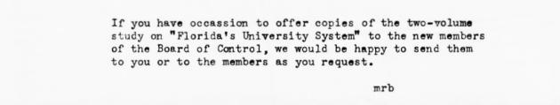 Letter Blee, Myron R. .  ( 1953-08-21 )