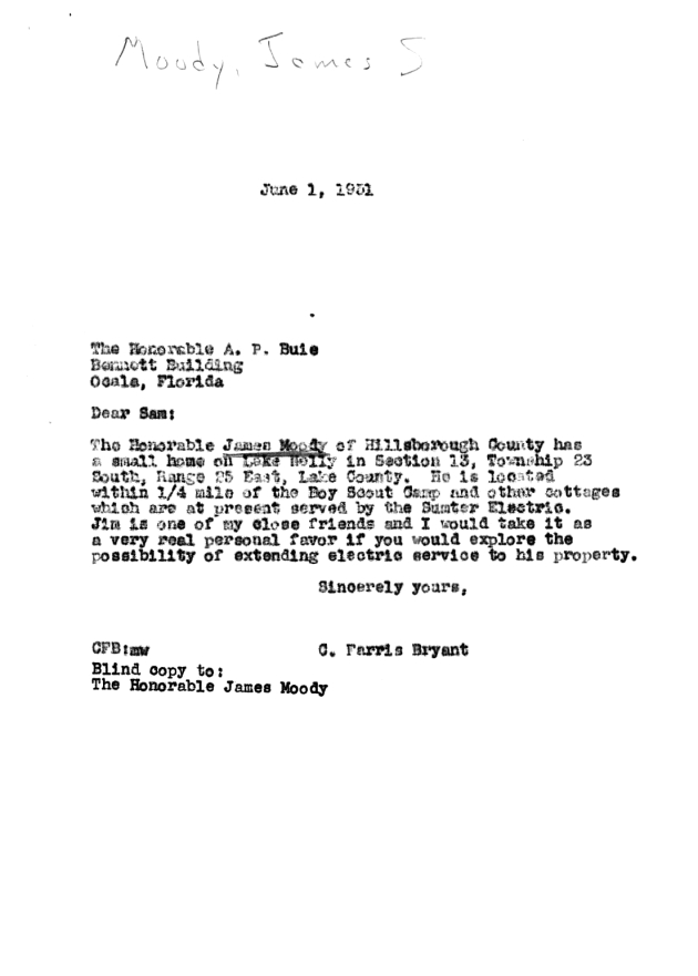 Letter to A. P. Buie from C. Farris Bryant.  ( 1951-06-01 )
