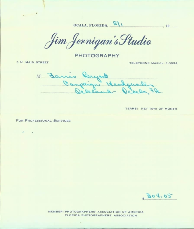 Bill from Jim Jernigan's photography studio