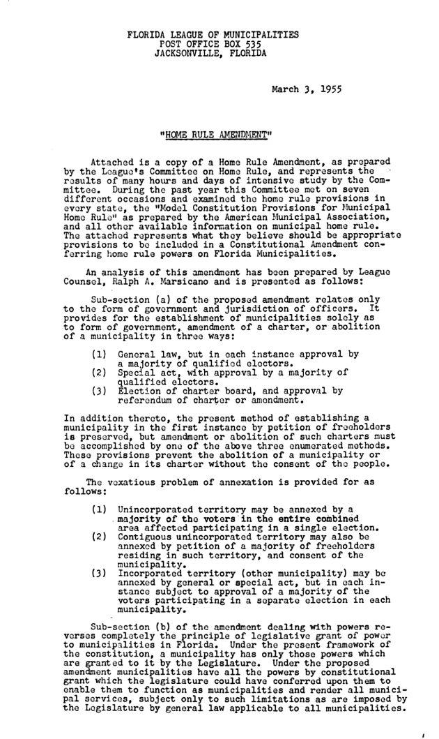 Home Rule Amendment.  ( 1955-03-03 ) - Page 1