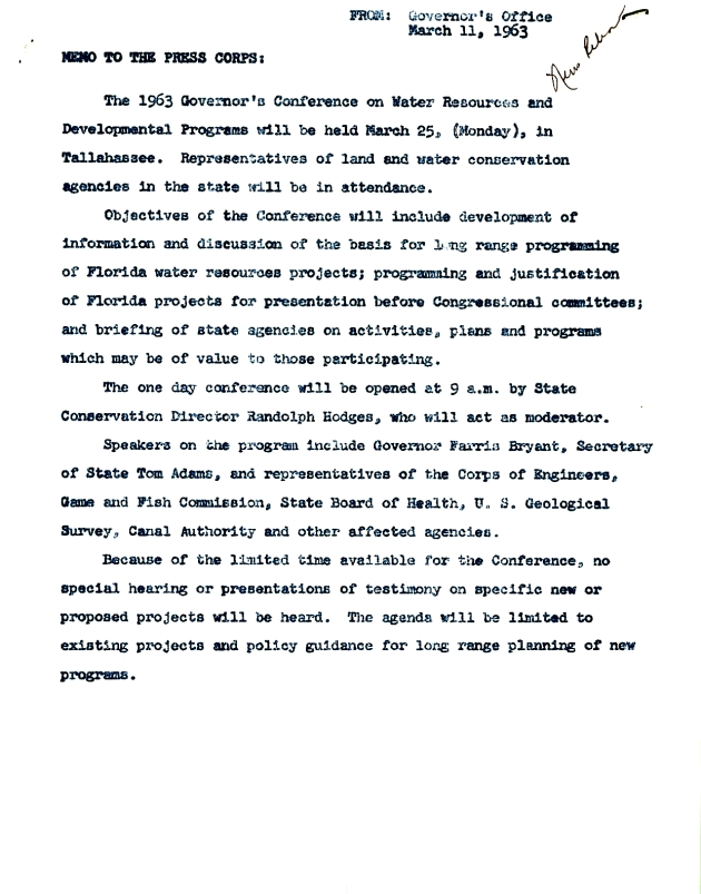 1963 Governor's Conference on Water....  ( 1963-03-11 )