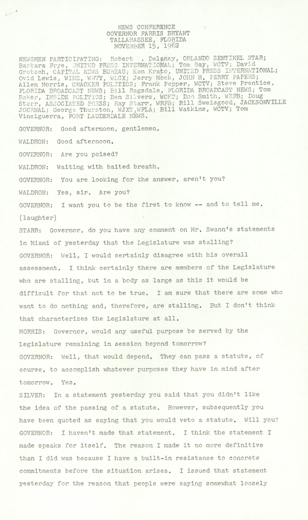 Good afternoon, gentlemen..  ( 1962-11-15 ) - Page 1