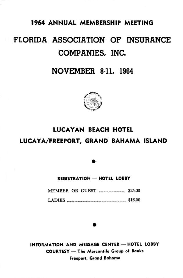 1964 Annual Membership Meeting.  ( 1964-11-08 ) - Page 1