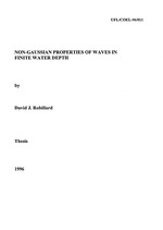 Non-Gaussian properties of waves in finite water depth