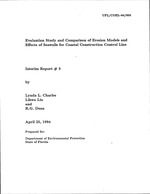 Evaluation study and comparison of erosion models and effects of seawalls for coastal construction control line