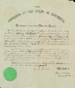 Appointment: Addley H. Gladden as Colonel by Governor Thomas O. Moon – Mar. 22, 1861 – Louisiana