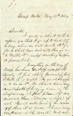 Anderson, J. Patton to Etta A. Anderson – May 19, 1864 – Camp Milton