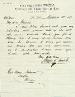 Jones, Charles C. to J. Patton Anderson – Aug. 2, 1871 – New York, NY
