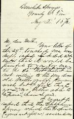 Anderson, J. Patton to mother – Aug. 2, 1872 – Beersheba Springs, TN