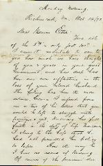 Pleasants, J. Adair to Etta A. Anderson – Oct. 14, 1872 – Richmond, VA