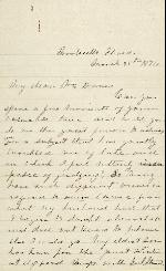 Anderson, Etta A. to Jefferson Davis – Mar. 25, 1876 – Monticello, FL