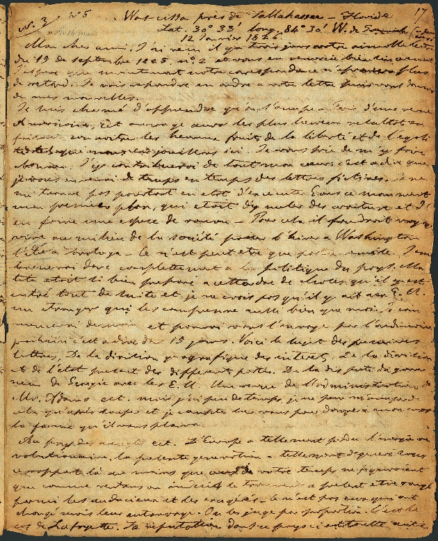 Letter to A. Thomé, Wascissa Near Tallahassee - Page 1