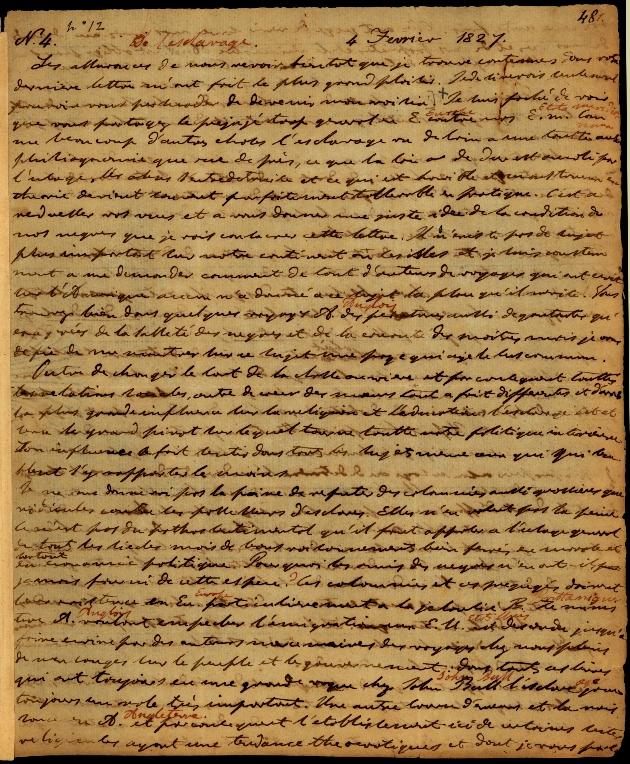 Letter to Comte Thibaudeau - Page 1