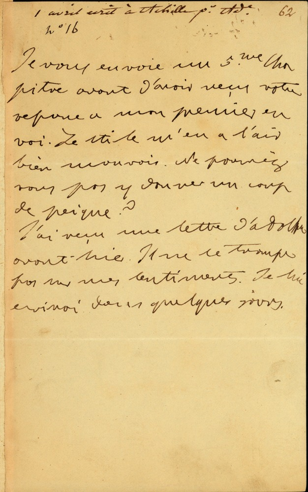 Undated Letter