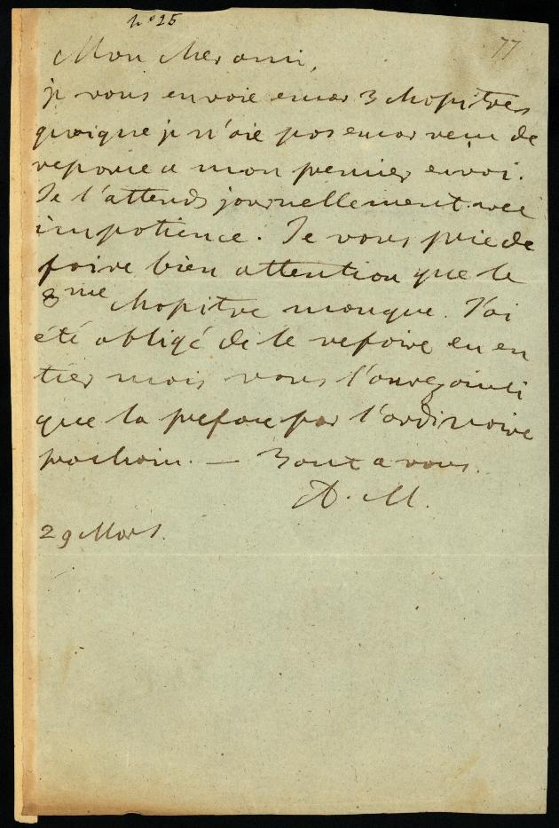 Letter to Comte Thibaudeau