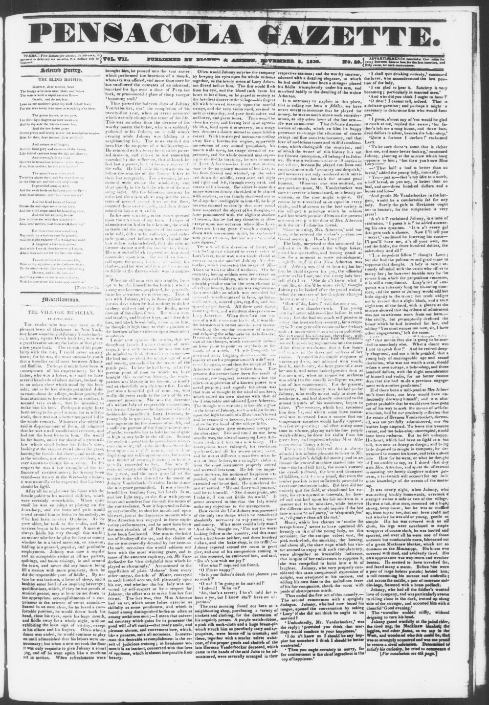 Pensacola gazette - Page 1