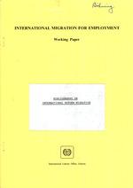 Bibliography on international return migration