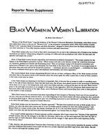 Black women in women's liberation