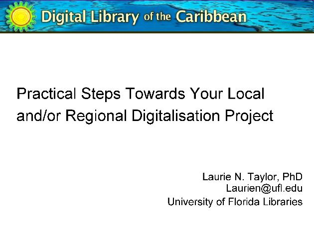 Practical Steps Towards Your Local and/or Regional Digitalisation Project (presentation) - Page 1