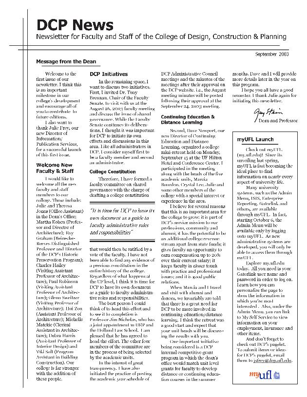 DCP news - Page 1