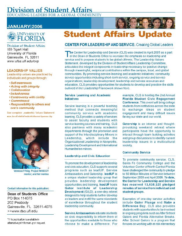 Student affairs update - Page 1