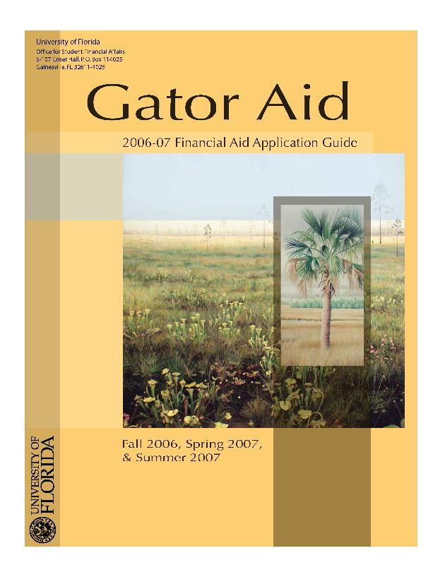 Gator aid: financial aid application guide - Page 1