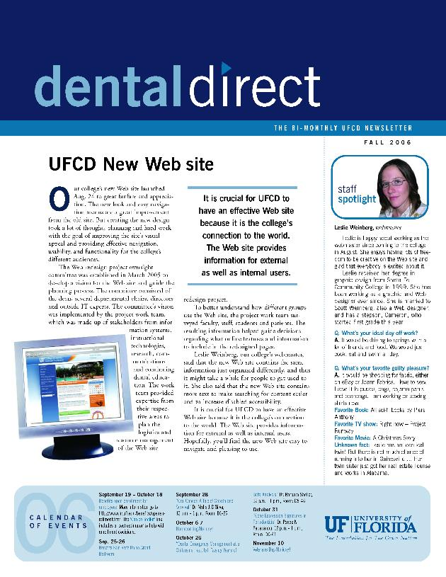 Dental direct. Fall 2006. - Page 1