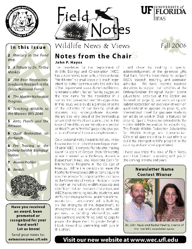 Field notes : wildlife news & views - Page 1