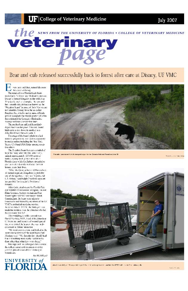 Veterinary page. July 2007. - Page 1