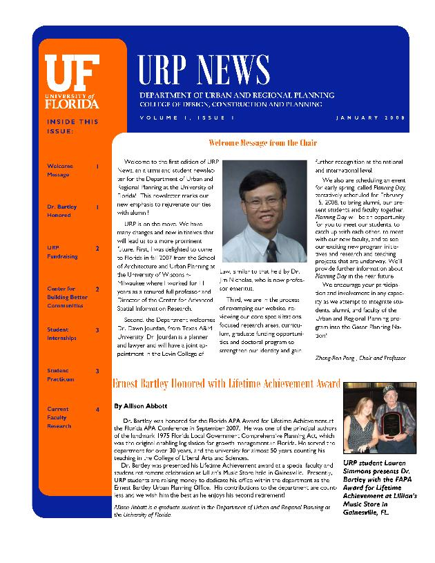URP news. Vol. 1. Issue 1. - Page 1
