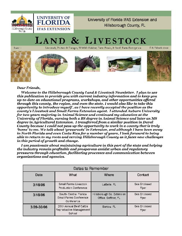 Land and Livestock - Page 1