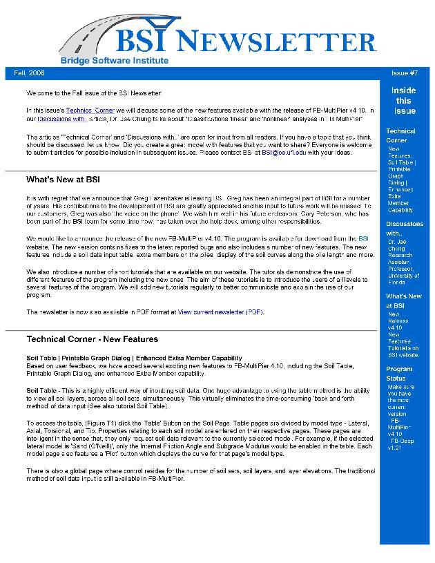 BSI newsletter - Page 1