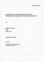 Response of the Perdido Key Beach nourishment project to Hurricane Erin