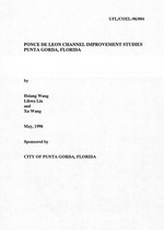 Ponce de Leon channel improvement studies Punta Gorda, Florida