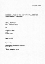 Performance of the midtown Palm Beach PEP reef installation