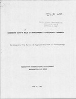 Assessing women's role in development : a preliminary workbook