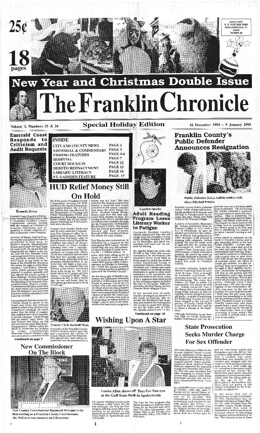 Franklin chronicle - Page 1