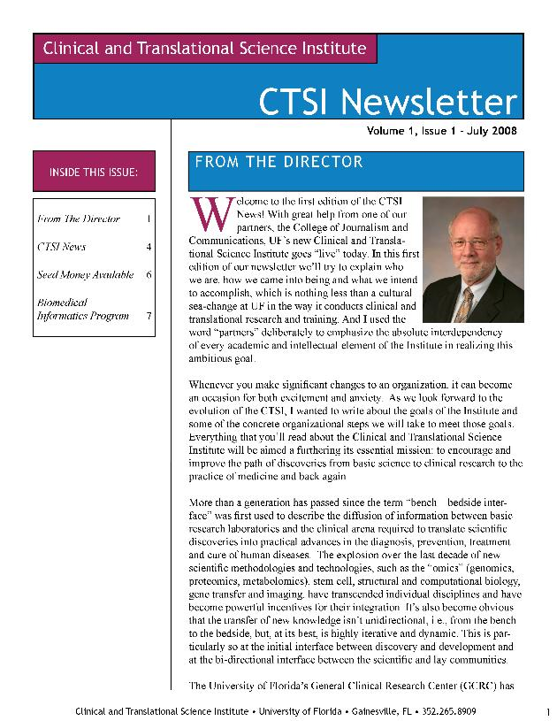 CTSI newsletter - Page 1