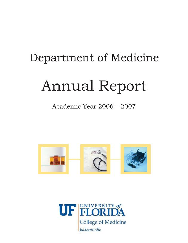 Department of Medicine annual report - Front Cover