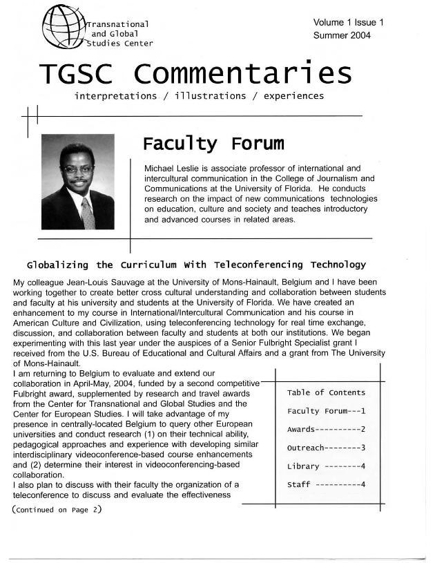 TGSC commentaries - Page 1