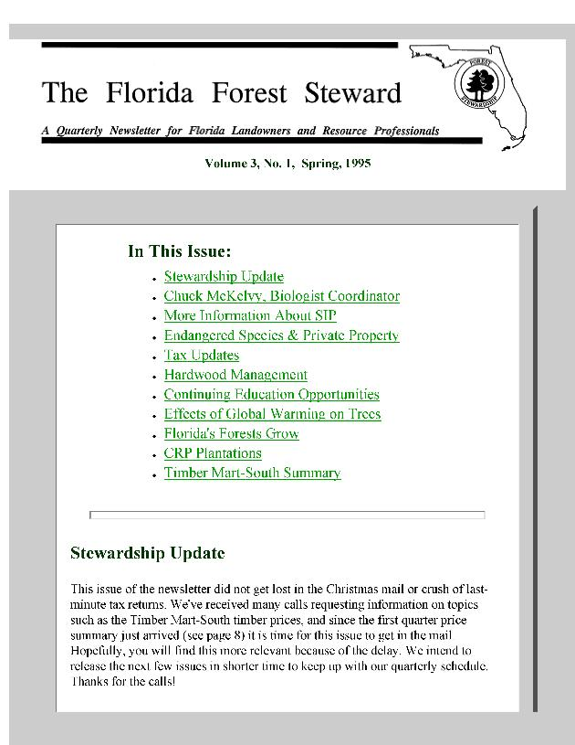 Florida forest steward - Page 1
