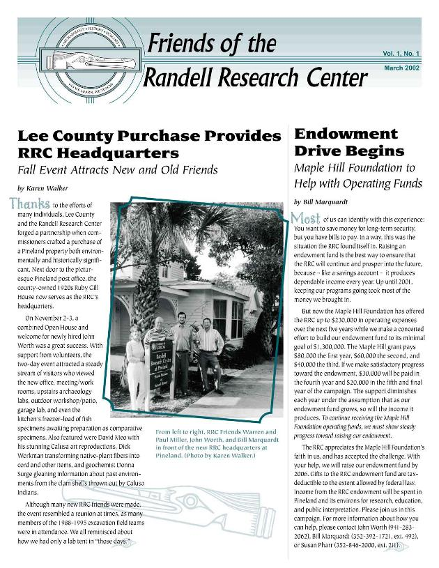 Friends of the Randell Research Center - Page 1