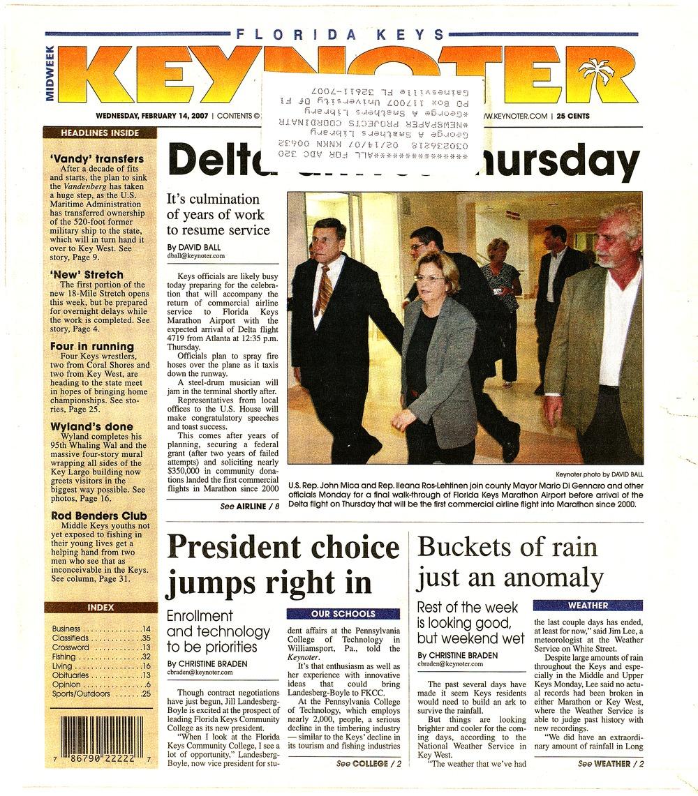 Florida Keys keynoter - Page 1
