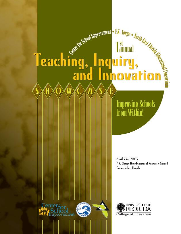Teaching, inquiry, and innovation showcase - Front Cover