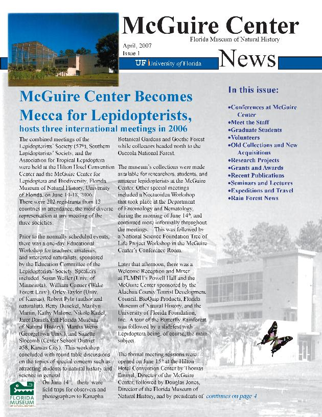 McGuire Center news / - Page 1