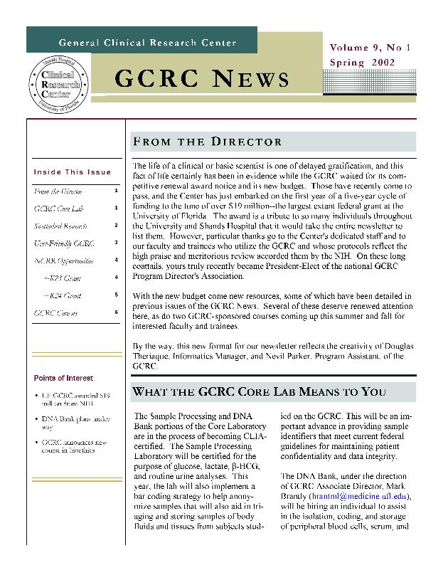 GCRC news - Page 1