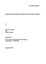 Properties of sediment from Newnans Lake, Florida
