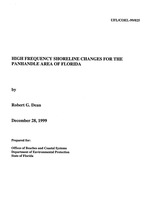 High frequency shoreline changes for the panhandle area of Florida