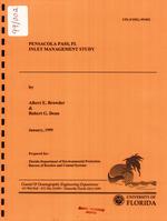 Pensacola Pass, Florida, inlet management study
